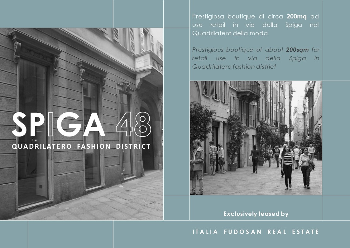 Exclusive mandate for retail space in via della Spiga