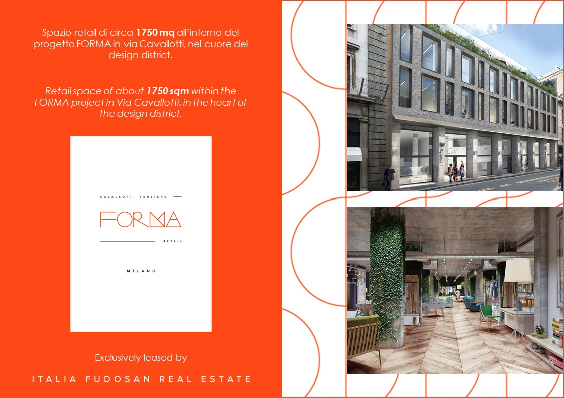 """FORMA"" in via Cavallotti to be exclusively leased by Italia Fudosan Real Estate"