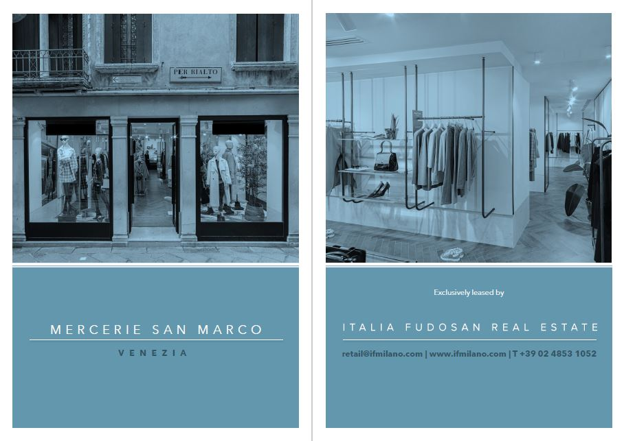 Exclusive mandate for retail space in Mercerie San Marco in Venice